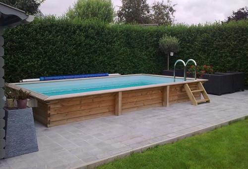 Marnix verkain bedrijf tuinhout ruddervoorde torhout brugge tuin hout west - Klein zwembad in de kleine tuin ...